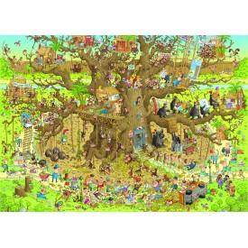 Puzzel 1000 stukjes Monkey Habitat Heye
