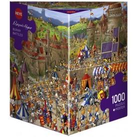 Puzzel 1000 stukjes Bunny Battle Heye