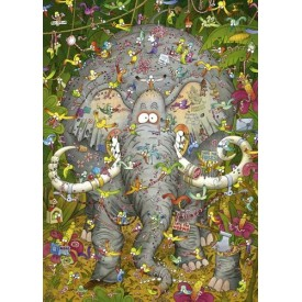 Puzzel 1000 stukjes Elephant's life Heye