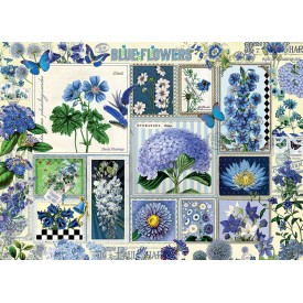 Puzzel 1000 stukjes Blue Flowers Cobble Hill