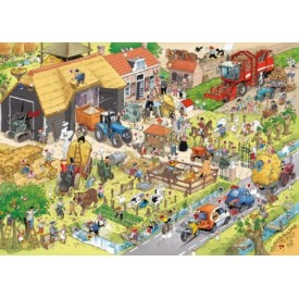 Puzzel 1000 stukjes Op de Boerderij - Danker Jan Puzzelman