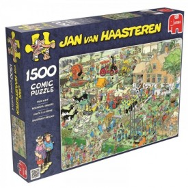 Puzzel 1500 stukjes Boerderij Bezoek - Jan van Haasteren Jumbo