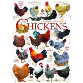 Puzzel 1000 stukjes Chicken Quotes Cobble Hill
