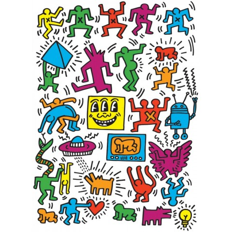 Puzzel 1000 stukjes Collage - Keith Haring Eurographics