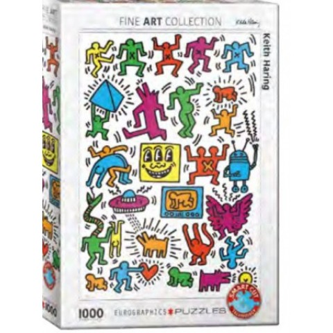 Puzzel 1000 stukjes Collage - Keith Haring Eurographics