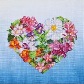 Diamond Painting 37x37 Flower Heart Diamond Dotz