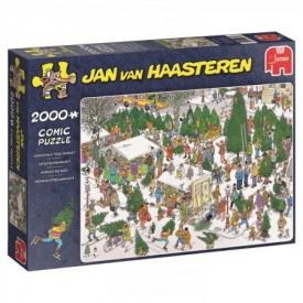 Puzzel 1000 stukjes De Kerstbomenmarkt Jan van Haasteren