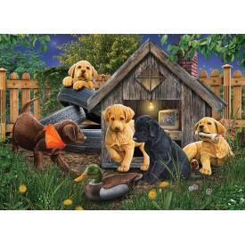 Puzzel 1000 stukjes In the Doghouse Cobble Hill