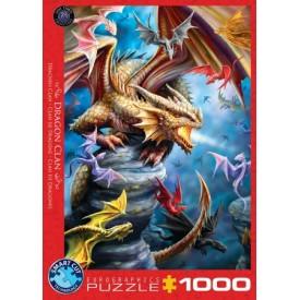 Puzzel 1000 stukjes Dragon Clan - Anne Stokes Eurographics