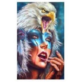 Diamand Painting 40x50 cm Eagle op Hoofd Twisk