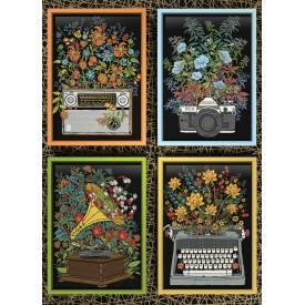 Puzzel 1000 stukjes Floral Objects Cobble Hill