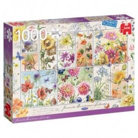 Puzzel 1000 stukjes Janneke Brinkman - Flower Stamps, Summer Jumbo