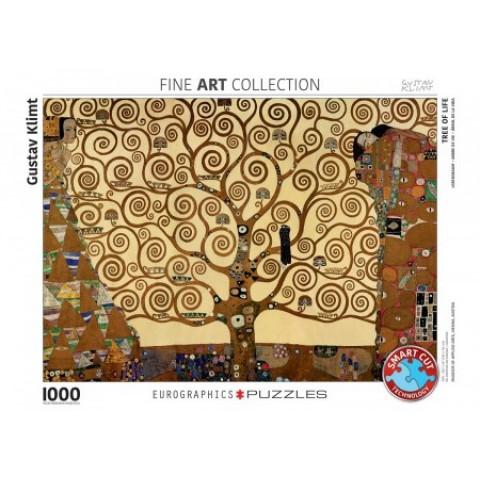 Puzzel 1000 stukjes Tree of Life - Gustav Klimt Eurographics