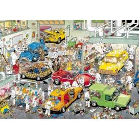 Puzzel 500 stukjes In de Autospuiterij - Jan van Haasteren Restyle Jumbo