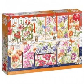 Puzzel 1000 stukjes Janneke Brinkman - Hollandse Tulpen Jumbo