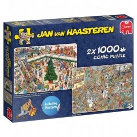 Puzzel 2x 1000 stukjes Kerst koopjes Jan van Haasteren Jumbo