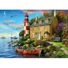 Puzzel 1000 stukjes The Lighthouse Keeper's Cottage Falcon