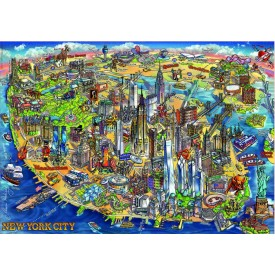 Puzzel 500 stukjes Kaart van New York Educa