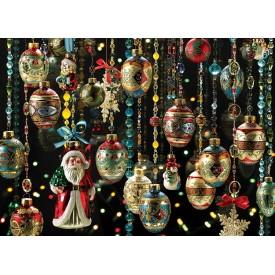 Puzzel 1000 stukjes Christmas Ornaments Cobble Hill