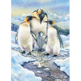 Puzzel 350 stukjes Penguin Family Cobble Hill
