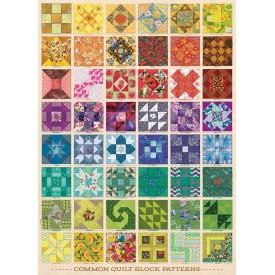 Puzzel 1000 stukjes Common Quilt Blocks Cobble Hill