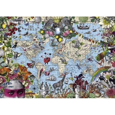 Puzzel 2000 stukjes Quirky World Heye