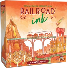 Spel Railroad Ink (Vuurrode Versie) White Goblin Games