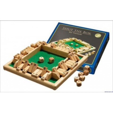 Spel Shut the Box 10, voor 1-4 spelers Philos