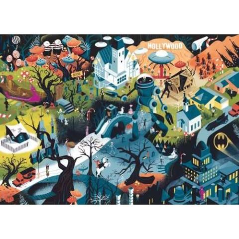 Puzzel 1000 stukjes Tim Burton Films Heye