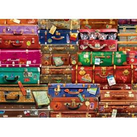 Puzzel 1000 stukjes travel suitcases Eurographics