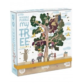 Puzzel 100 stukjes Pocket Puzzle - My Tree Londji