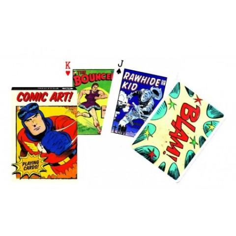 Spel Vintage Comic Art Speelkaarten - Single Deck Piatnik