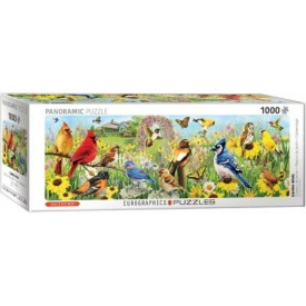 Puzzel 1000 stukjes Garden Birds - Greg Giordano Panorama Eurographics