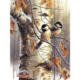 Diamand Painting 60x80 cm Vogels in Boom Twisk