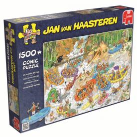 Puzzel 1500 stukjes Wild Water Rafting - Jan van Haasteren Jumbo