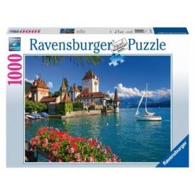 Puzzel 1000 stukjes Aan het meer van Thun, Bern Ravensburger