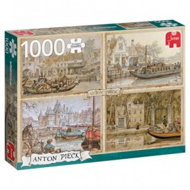 Puzzel 1000 stukjes Anton Pieck - Canal Boats Jumbo