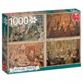 Puzzel 1000 stukjes Anton Pieck - Living Room Entertainment Jumbo