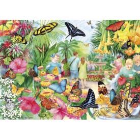 Puzzel 1000 stukjes Butterfly House Gibsons