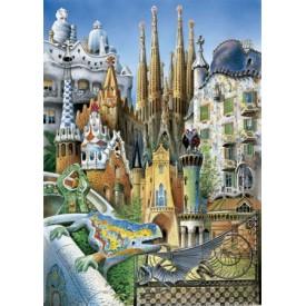 Puzzel 1000 stukjes Collage Miniature Series Educa
