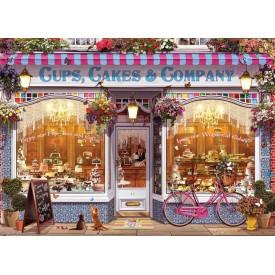 Puzzel 1000 stukjes Cups, Cakes & Company Eurographics