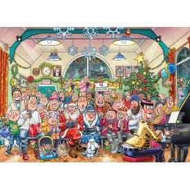 Puzzel 2 x 1000 stukjes Wasgij Christmas 16 - De Kerstshow Wasgij