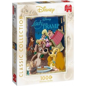 Puzzel 1000 stukjes Disney Classic Collection - Lady and The Tramp Jumbo
