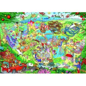 Puzzel 1000 stukjes Fun Park Trip Heye