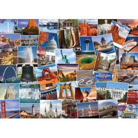 Puzzel 1000 stukjes Globetrotter USA Eurographics