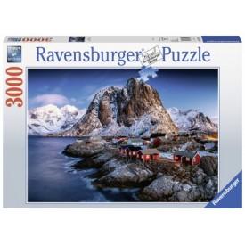 Puzzel 3000 stukjes Hamnoy Lofoten, Noorwegen Ravensburger