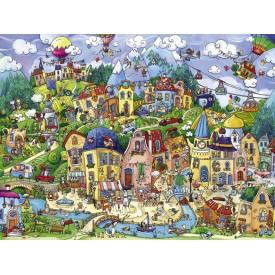 Puzzel 1500 stukjes Happy Town Heye
