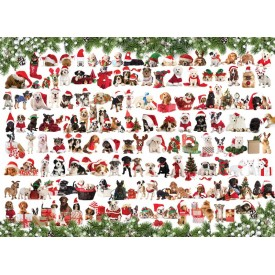 Puzzel 1000 stukjes Holiday Dogs Eurographics
