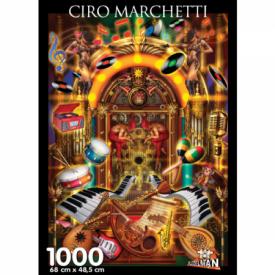 Puzzel 1000 stukjes Juke Box Ciro Marchetti Puzzelman