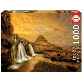 Puzzel 1000 stukjes Kirkjufellsfoss Waterfall Iceland Educa